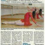 Article surVirginia NEGRI chez Béjart 2011