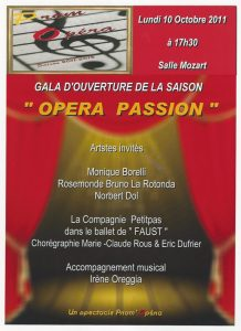 Opéra Passion octobre 2011
