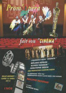 Prom Opéra fait son cinéma avril 2012