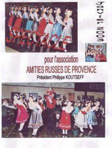 Amitiés russes de Provence Janvier 2003