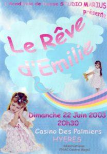 Gala Le rêve d'Emilie (22 juin 2003)