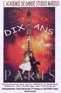 Gala Dix ans à Paris (20 juin 2004)