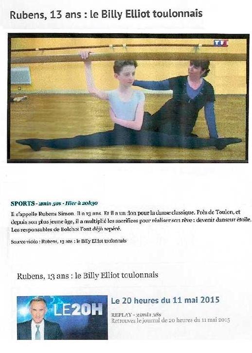 Rubens SIMON le Billy Elliot toulonnais