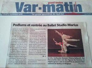 Var Matin La rentrée du Ballet Studio Marius