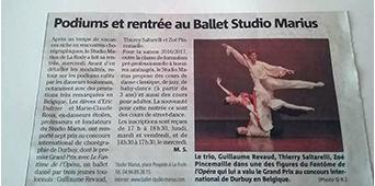 Var Matin Podium et rentrée au Ballet Studio Marius