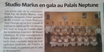 La Ballet Studio Marius en gala au Palais Neptune de Toulon
