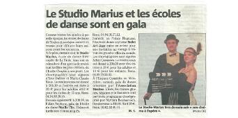 Le Studio Marius et les écoles de danse sont en gala