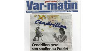 Cendrillon perd son soulier au Pradet Var Matin janvier 2015