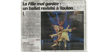 La fille mal gardée un ballet revisité Var Matin 2014