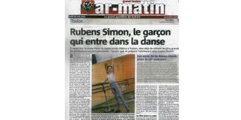 Rubens SIMON le garçon qui entre dans la danse