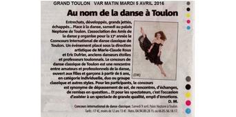 Au nom de la danse à Toulon