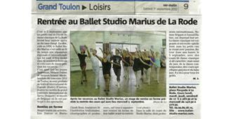 Le Ballet Studio Marius fait sa rentrée