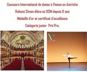 Rubens Simon au concours international de danse de Vienne