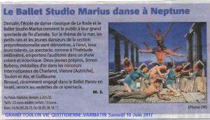 Article var matin le ballet studio marius danse à neptune