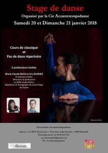 Affiche du stage de danse de Marseille