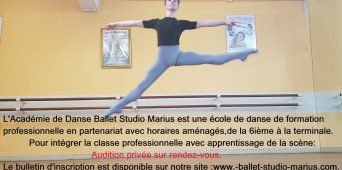 AUDITION BALLET STUDIO MARIUS 2020/2021