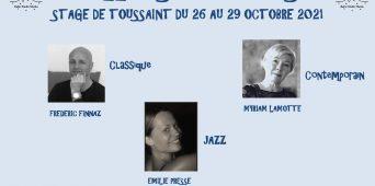 STAGE DE TOUSSAINT DU 26 AU 29 OCTOBRE 2021